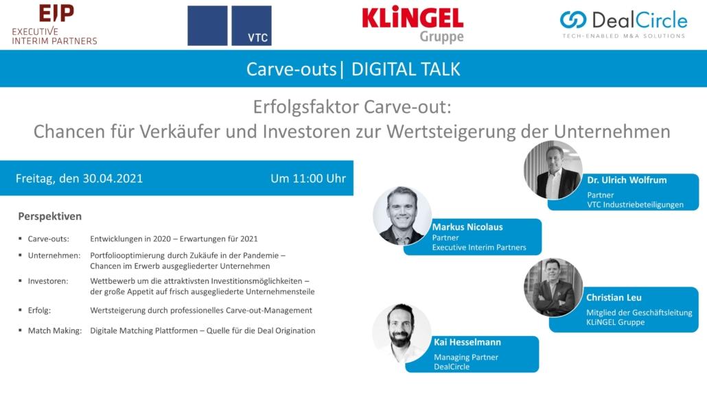 EIP Digital Talk: Erfolgsfaktor Carve-Out